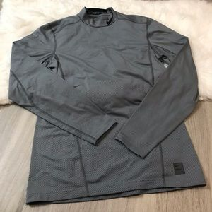 Nike Pro Dri Fit Fitted Athletic Long Sleeve Shirt
